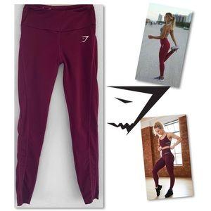 Gymshark Pants - Gymshark Dry Moisture Management Ruby Leggings S